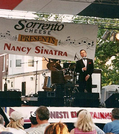 Frank Sinatra Impersonator performing at festival